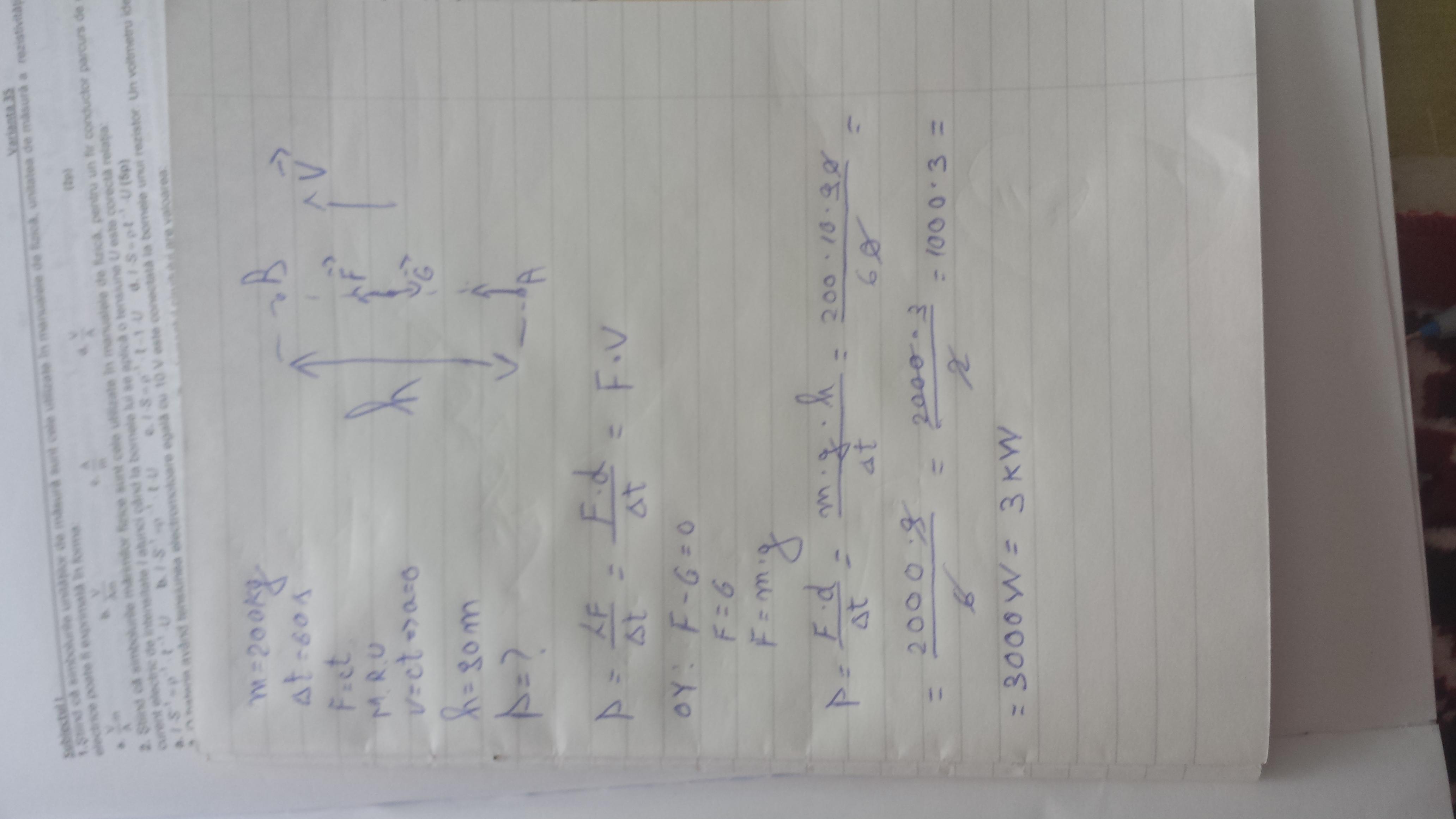 miscarea rectilinie uniforma probleme rezolvate