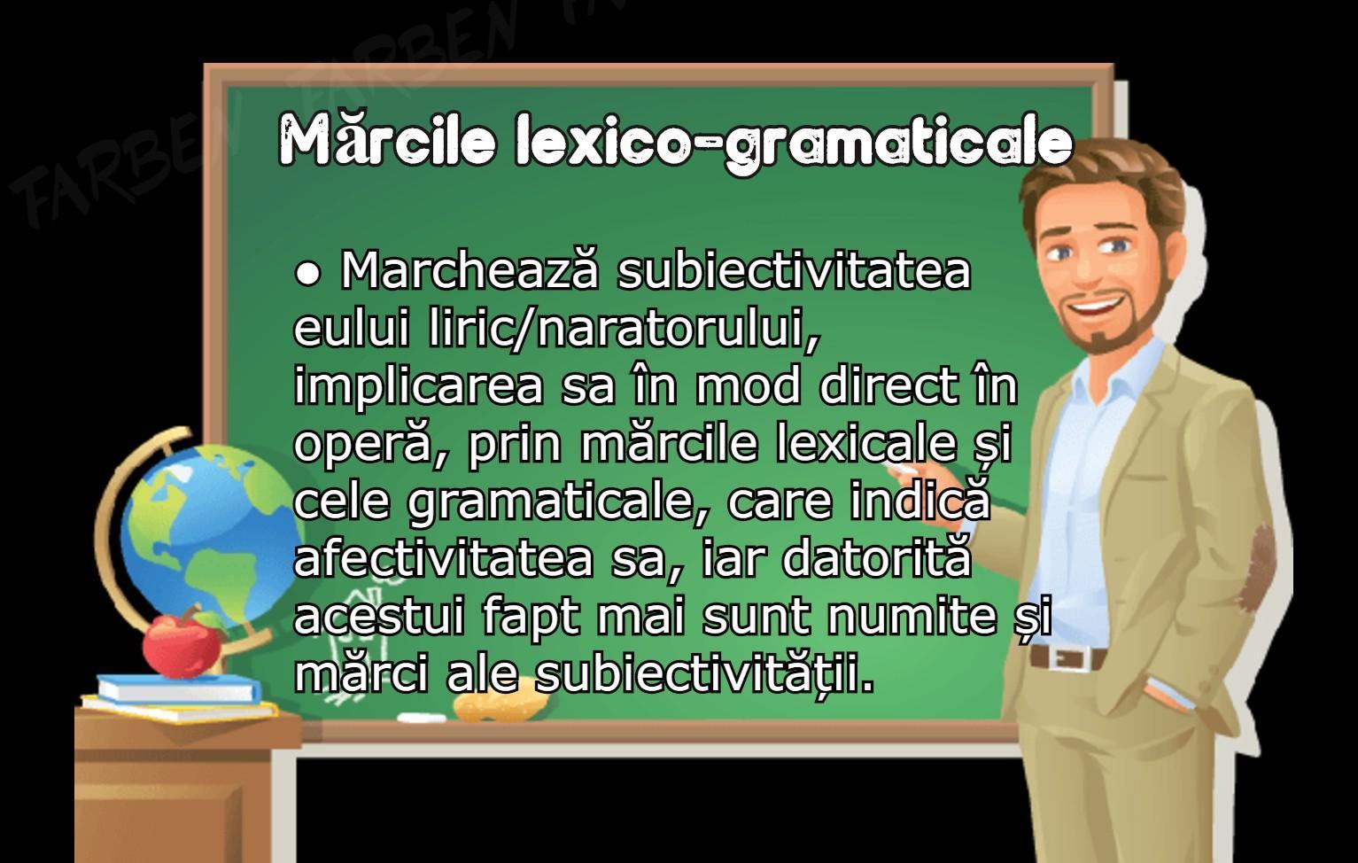 exemple de mărci lexico gramaticale prin care se ...