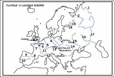 Care Sunt Cele 20 Fluvii Europene Brainly Ro