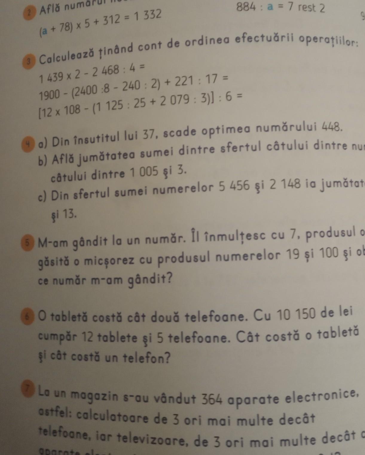 mă ajutați și pe mine la problema 6? - Brainly.ro