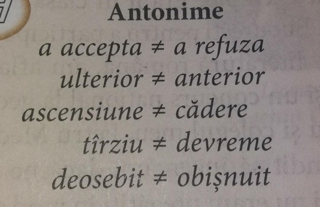 alcatueti 5 enunturi cu 2 pereci de antonimi - Brainly.ro