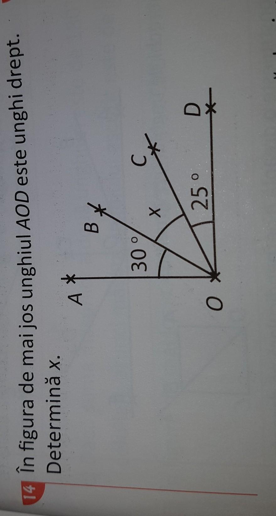 în figura de mai jos unghiul AOD este unghi drept ...