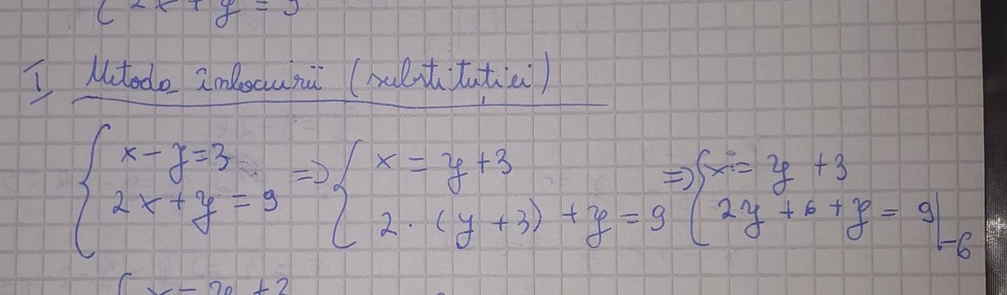 Dați doua exemple de sisteme de două ecuații cu doua ...