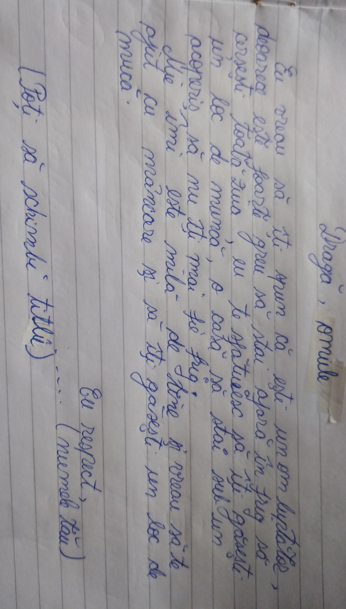 scrie o scrisoare unui rom care cerseste - Brainly.ro