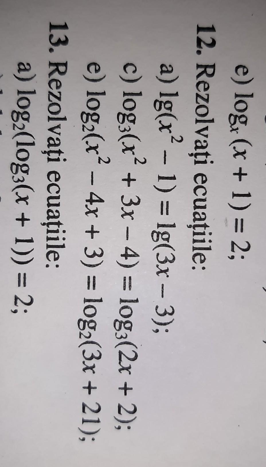 Dați exemple de Ecuatii 5 - exemple cu Lotgarimii5 ...