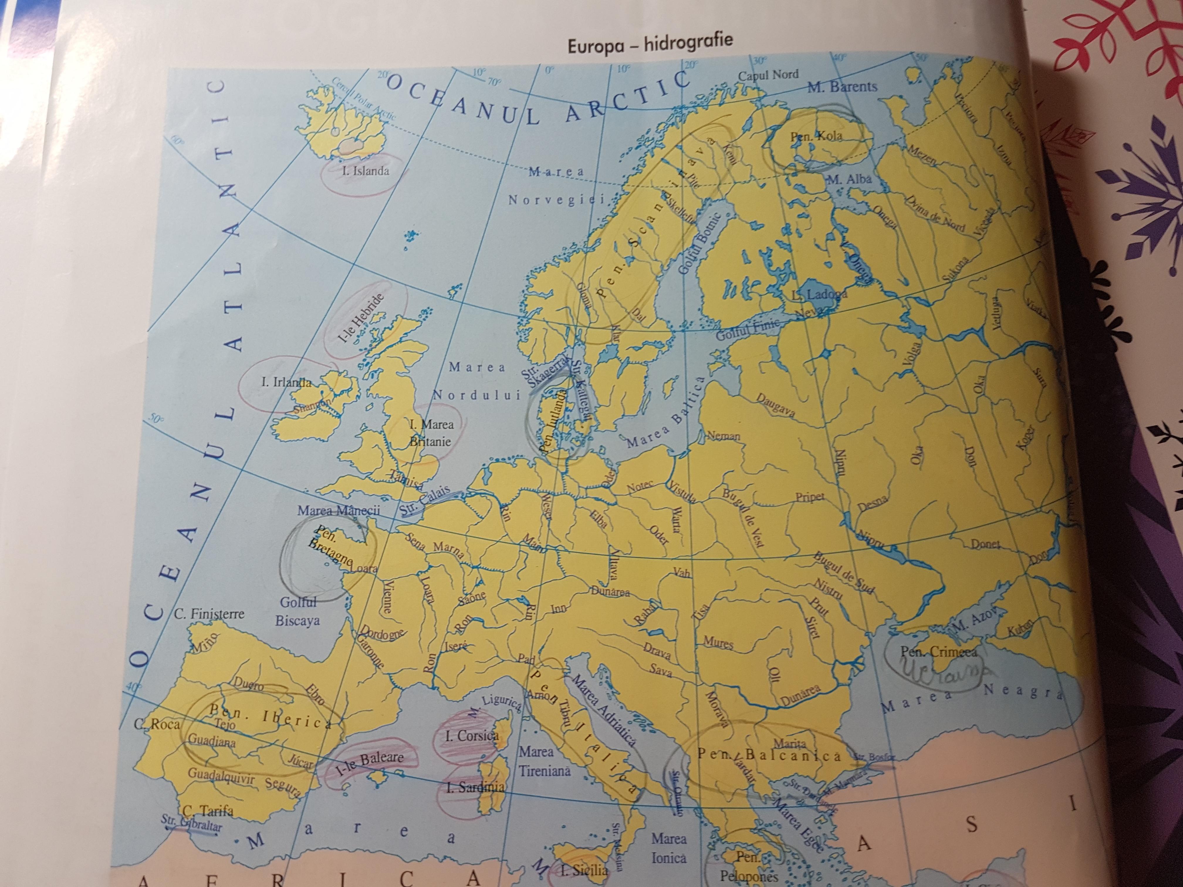 Harta Hidrografica Harta Europa Geotutorials