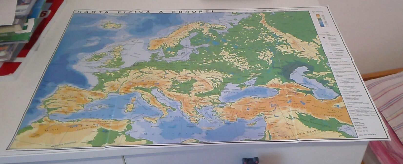 Care Sunt Unitatile De Relief Majore De Pe Harta Fizica A Europei